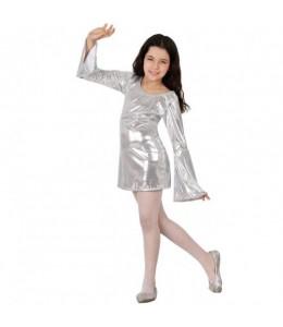 Disfraz de Disco Plata Chica Infantil