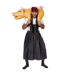 Disfraz de Granjera con Cerdo