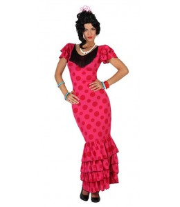 Disfraz de Sevillana Rosa