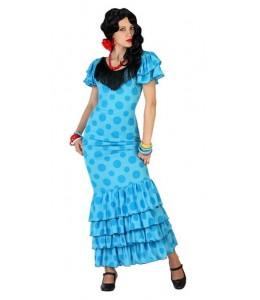 Disfraz de Flamenca Azul