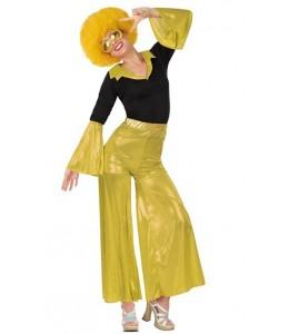 Disfraz de Disco Dorado Mujer