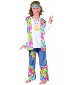 Disfraz de Hippie Peace Niña