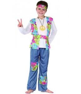 Disfraz de Hippie Peace Niño