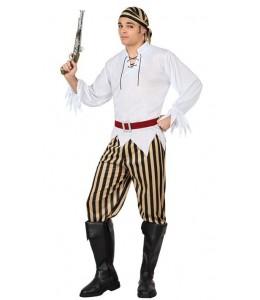 Disfraz de Pirata Bucanero Rayas