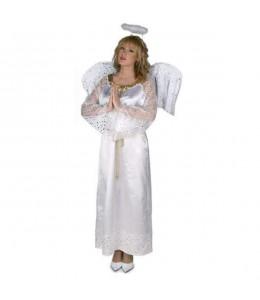 Disfraz de Angel Blanco Largo Mujer