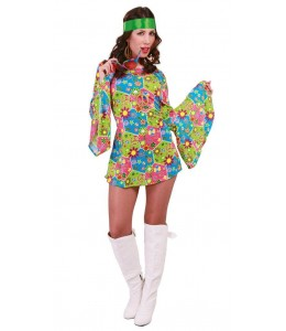 Disfraz de Hippie Flower Chica