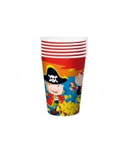 Vasos Cumpleaños Tesoro Pirata