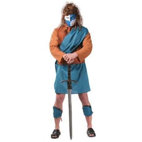Disfraz de Guerrero Escoces Azul