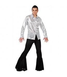 Disfraz Disco Plata Hombre