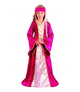Disfraz de Dama Medieval Rosa
