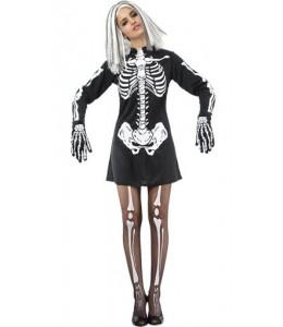 Disfraz de Esqueleto en Vestido