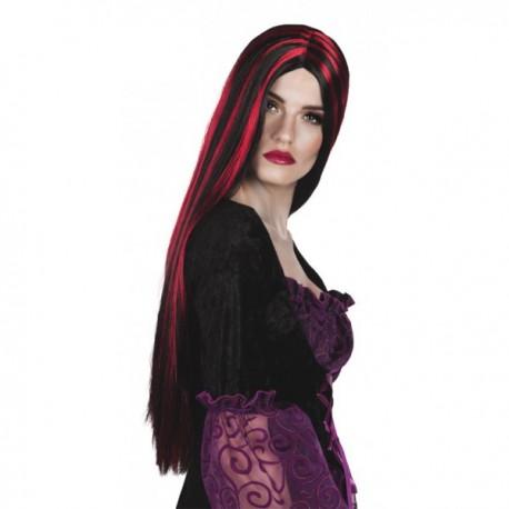 Comprar Peluca Melena Negra y Roja por solo 9.50€ – Tienda de ... dccee0904c2