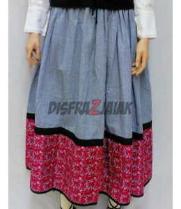 Skirt Homemade Araotz Maroon, and Pink
