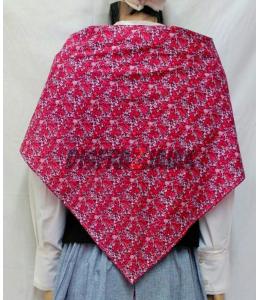 Taschentuch mit Blumen Granat und Rosa