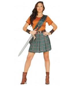 Disfraz de Guerrera Escocesa