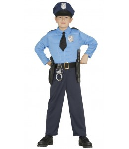 Disfraz de Policia Musculoso Infantil