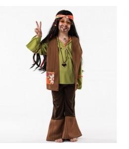 DIsfraz de Hippie Verde Infantil