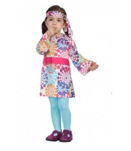 Disfraz de Hippie Vestido Bebe