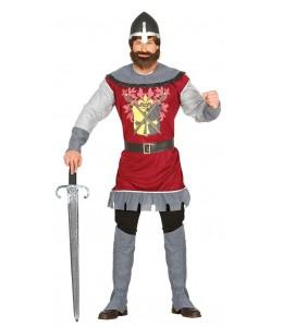 Disfraz de Guerrero Medieval Granate