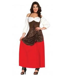 Disfraz de Tabernera Roja