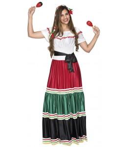 Disfraz de Mejicana Largo