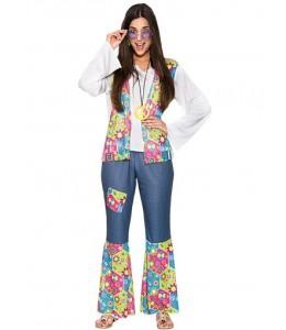 Disfraz de Hippie Peace Mujer