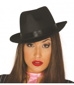 Sombrero Gangster Alta Calidad Negro