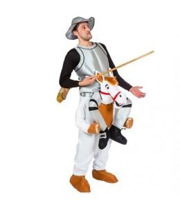 Disfraz de Quijote con Rocinante