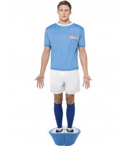 Disfraz de Jugador de Futbolin Azul