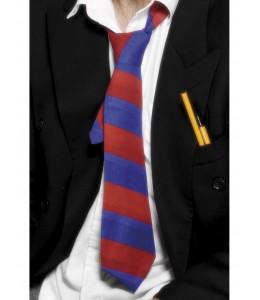 Corbata de Rayas Azul y Granate