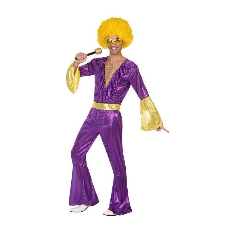 Disfraz de Buzo Disco Lila