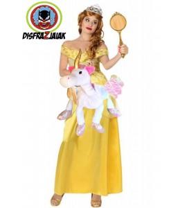 Disfraz de Princesa Bella unicornio