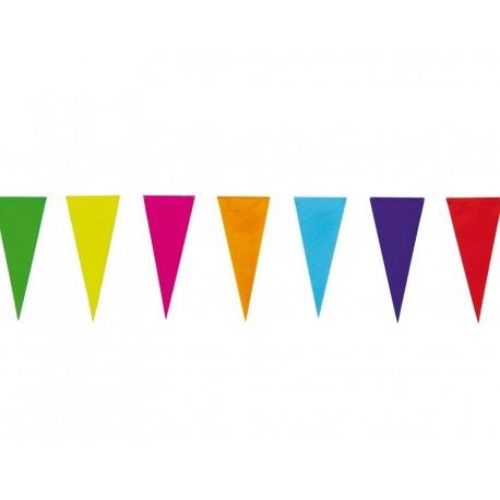 Banderines de Papel Triangulares de Colores
