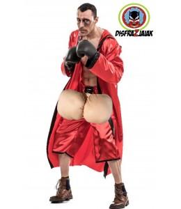 Disfraz de Boxeador Huevon Rojo
