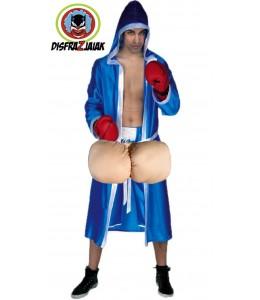 Disfraz de Boxeador Huevon Azul