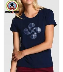 Camiseta Lauburu Azul Mujer