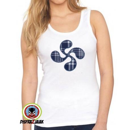 Camiseta Lauburu Tirante Mujer