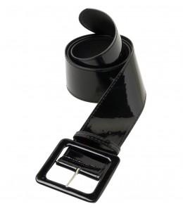Cinturon Negro de Vinilo