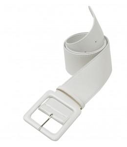 Cinturon Blanco de Vinilo
