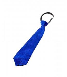 Corbata Lentejuelas Azul