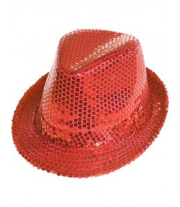 Gorro Lentejuelas Rojo