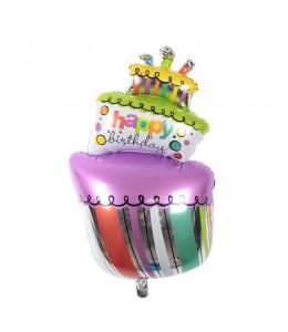 Globo tarta de cumpleaños de Foil