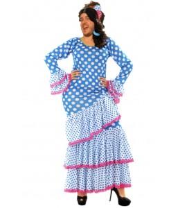 Disfraz de Sevillana Azul Hombre