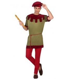 Disfraz de Medieval Verde y Granate
