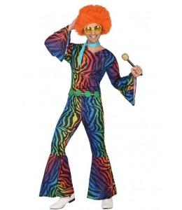 Disfraz de Disco Colores Hombre