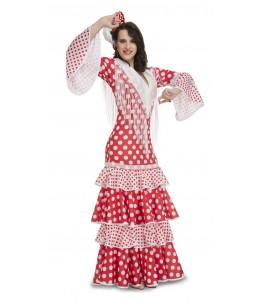 Disfarce de Flamenco Feira Vermelha