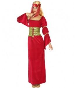 Disfraz de Dama Medieval Granate Corpiño