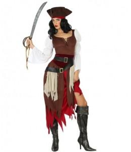 Disfraz de Piratesa del Caribe Marron