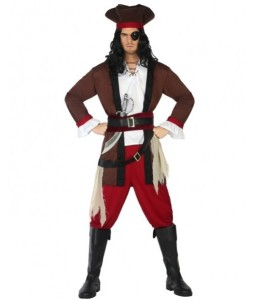 Disfraz de Pirata del Caribe Marron