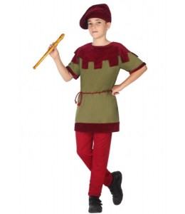 Disfraz de Medieval Verde y Granate Infantil